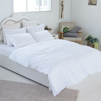 화이트 호텔베딩 커버 세트(이불커버1개+침대덮개1개+베게커버2개)