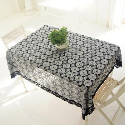 리븐 레이스 사각 테이블커버 식탁보