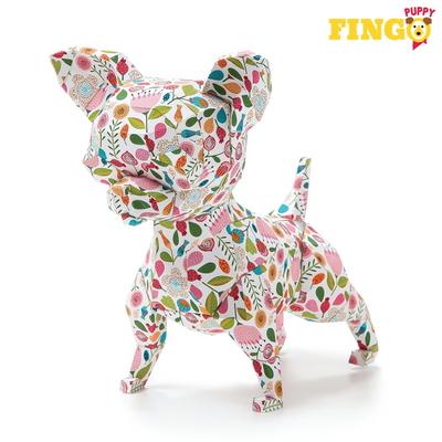 핑고퍼피 - 3D  입체 종이 접기 강아지 페이퍼토이