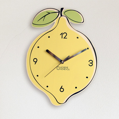 맛있는 벽시계 과일 디자인 인테리어 벽시계 레몬
