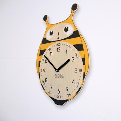 꿀벌 캐릭터 교육용 벽시계 허니