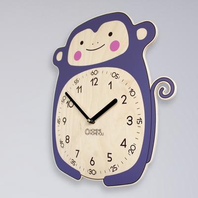 즐거운 원숭이 동물 벽시계 몽니