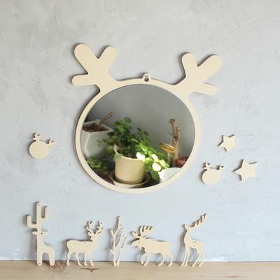 사슴 자작나무 인테리어 안전거울