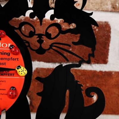 레코드판 고양이탁상및벽시계