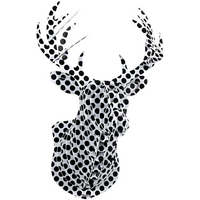 Wacky 사슴머리장식 도트