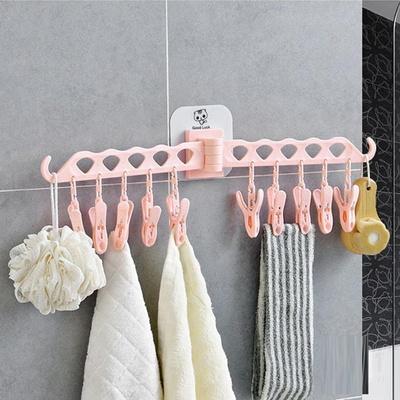 쉽게 벽에 붙여쓰는 다용도 욕실걸이 빨래집게걸이
