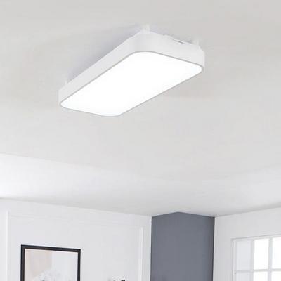 심플 화이트 LED30W 직사각 방등