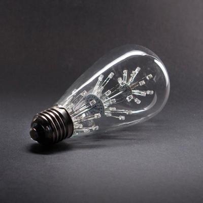 포커스 ST64 LED 2W 에디슨 눈꽃 램프