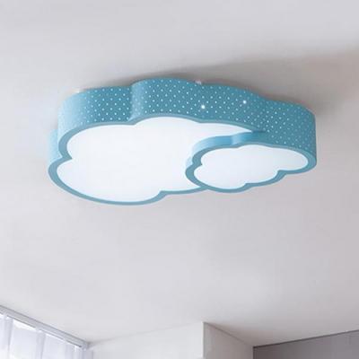 더블 구름 LED 방등 50W 핑크 블루