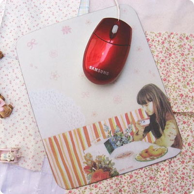 artwork mousepad -with coffee