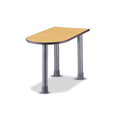U형 테이블(원형다리)1200_수입