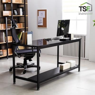 TS-02 강화유리 책상 1200x600 철제 컴퓨터 사무용 게이밍 책상