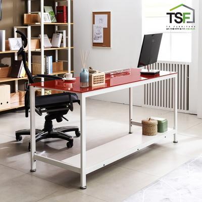 TS-02 강화유리 책상 1500x600 철제 컴퓨터 사무용 게이밍 데스크