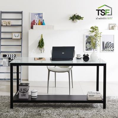 TS-02 강화유리 책상 1800x600 철제 컴퓨터 사무용 게이밍 데스크