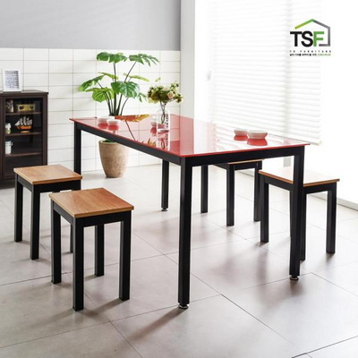 TS-04 강화유리 책상 1500x600 철제 컴퓨터 사무용 게이밍 데스크