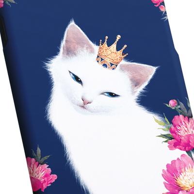 고양이 일러스트 케이스 - 릴리와 꽃