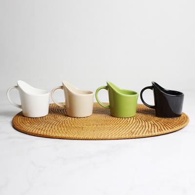 도자기 종이컵 홀더 컵받침 4색 - White, Beige, Olive, Black