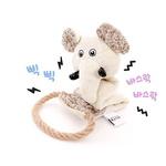 반려동물 장난감 헙스 멜란지 토이 코끼리 로프링