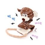 반려동물 장난감 헙스 멜란지 토이 원숭이 로프링