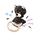 반려동물 장난감 헙스 멜란지 토이 곰 로프링