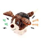 반려동물 장난감 헙스 멜란지 토이 볼 강아지(브라운)