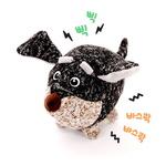반려동물 장난감 헙스 멜란지 토이 볼 강아지(블랙)