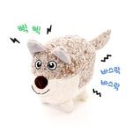 반려동물 장난감 헙스 멜란지 토이 볼 강아지(베이지)