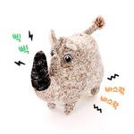 반려동물 장난감 헙스 멜란지 토이 볼 코뿔소