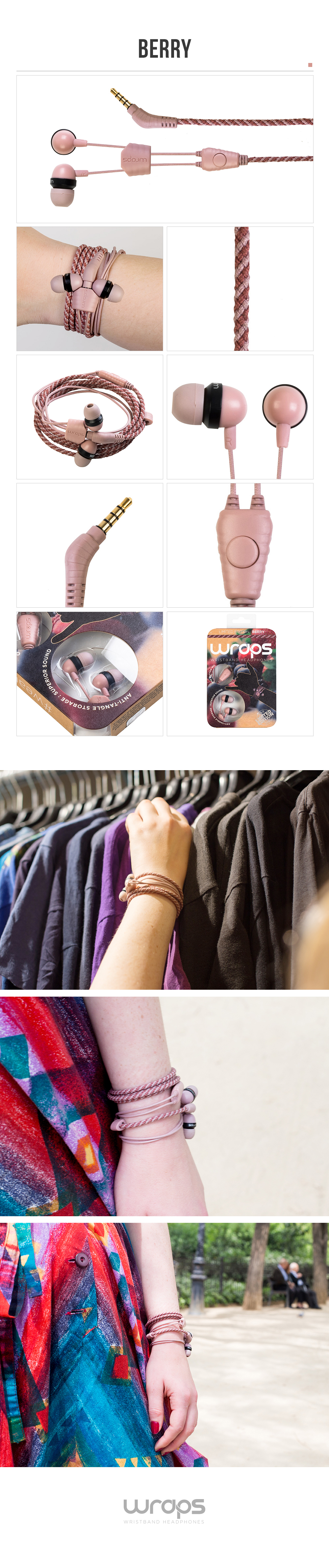 패션팔찌이어폰 Wraps Talk-음악과 손목에 컬러를 입히다 - 랩스, 39,000원, 이어폰, 커널형 이어폰