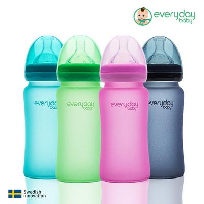 스웨덴 온도감지 내열강화 유리젖병 에브리데이베이비