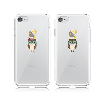 GEURIGO- 커플부엉이 클리어 젤리 케이스