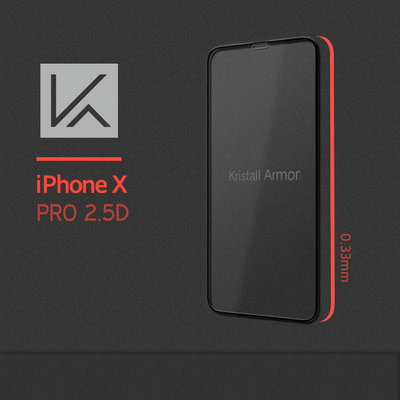 아이폰X 크리스탈아머프로 풀커버강화유리