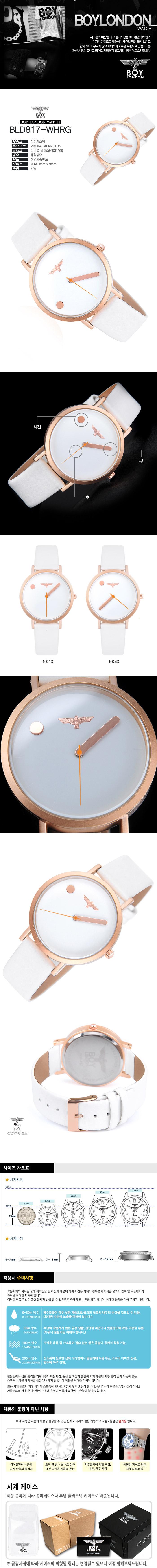 보이런던 BLD817S-WHRG - 보이런던, 53,910원, 남성시계, 가죽시계