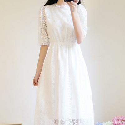 소녀감성 셀프 웨딩 드레스 원피스 6size 스몰웨딩