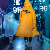 정품 DOPE 디자인 레인코트 3color 여성우비 남자우의 패션판초비옷
