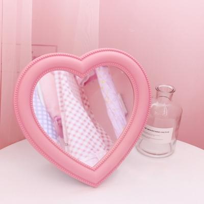 갓샵 핵인싸템 핑크 하트 거울 셀카 화장대 탁상용