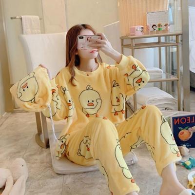 캐릭터 겨울 수면 잠옷 12종 세트 여성 극세사 원피스
