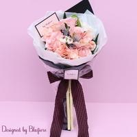조화 꽃다발 핑크더플라워시크 BBF1761