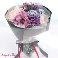 조화 꽃다발 러블리아네모네부케 핑크 BBF1781