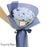비누장미 꽃다발 블루(20송이) BBF1786