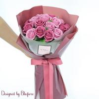 비누장미 꽃다발 인디안핑크(20송이) BBF1788