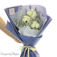 목화솜 꽃다발 옐로우 BBF1791
