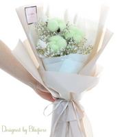 목화솜 꽃다발 그린 BBF1793