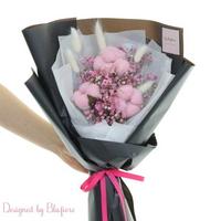 목화솜 꽃다발 핑크 BBF1794