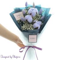 목화솜 꽃다발 퍼플 BBF1795