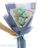 목화솜 꽃다발 블루 BBF1796