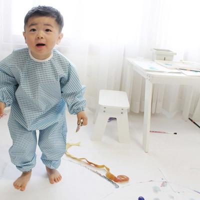 갤러그 유아 전신 미술가운 /2color