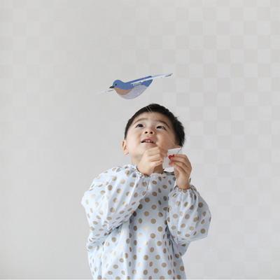 블루 솜사탕 유아 전신 가운