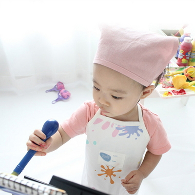 아트플레이 유아 방수앞치마 세트-화이트
