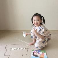 (반팔) 라바 유아 전신 미술가운-2color